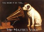 Vintage HMV Jack Russell Advertising Metal Steel Sign
